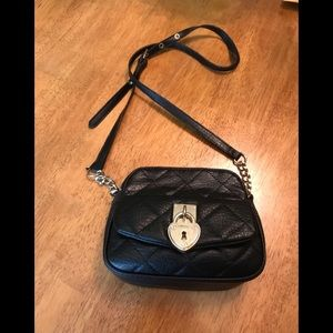 Juicy Couture Black Quilted Crossbody W/Heart